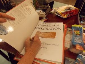 Ann Maureen signing